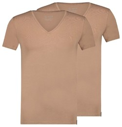 RJ Bodywear 2Pack Good Life Madrid Diepe V-Hals Ondermode Zand