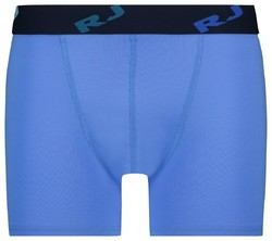 RJ Bodywear Pure Color Boxershort Underwear Blue Melange Dark