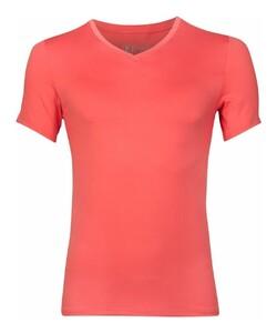 RJ Bodywear Pure Color V-Neck T-Shirt Underwear Coral