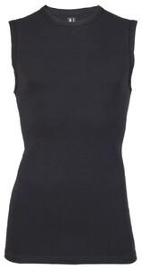RJ Bodywear Stretch Cotton Tank Top Ondermode Zwart