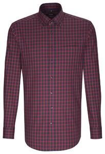 Seidensticker Check Shirt Bordeaux