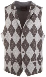 Roy Robson Argyle Pattern Waistcoat Grey