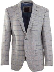 Roy Robson Blue Check Jacket Grey
