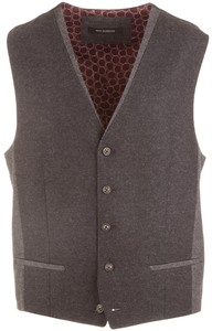 Roy Robson Contrasting Two-Tone Gilet Antraciet