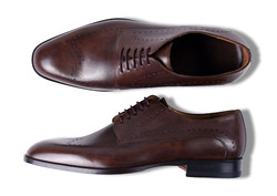 Roy Robson Derby Brogue Perforated Schoenen Donker Bruin