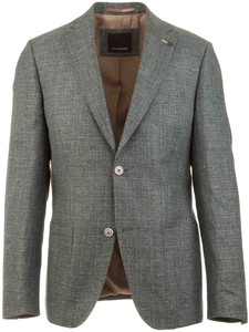 Roy Robson Faux Check Structure Jacket Green