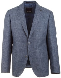 Roy Robson Faux Check Structure Jacket Mid Blue
