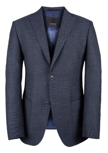 Roy Robson Fine Contrast Structure Jacket Mid Blue