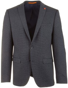 Roy Robson Fine Faux Check Colbert Midden Blauw