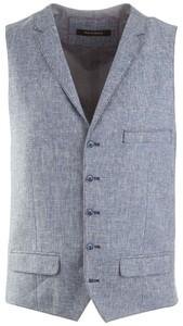 Roy Robson Fine-Structure Piqué Waistcoat Light Blue