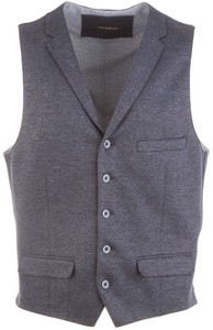 Roy Robson Fine-Structure  Waistcoat Mid Blue