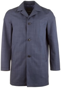 Roy Robson Formal Denim Look Coat Jas Midden Blauw