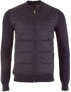 Roy Robson Padded Front Cardigan Navy