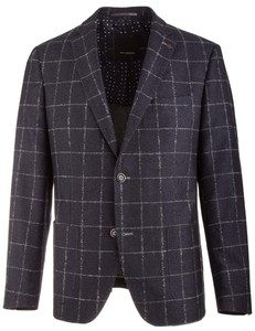 Roy Robson Shape Fit Big Check Colbert Donker Blauw