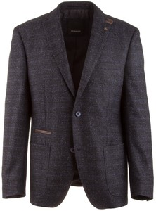 Roy Robson Shape Fit Donegal Check Jacket Dark Evening Blue