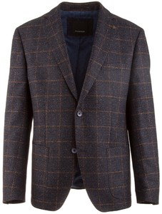 Roy Robson Shape Fit Navy-Brown Check Colbert Navy