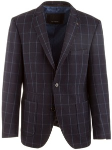 Roy Robson Shape Fit Outside Jacket Check Jacket Navy