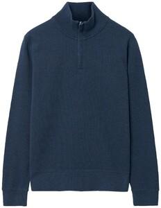 Gant Rib Half Zip Dark Jeansblue Melange