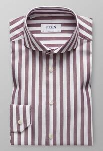 Eton Striped Twill Roodroze