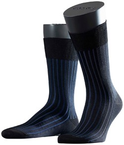 Falke Shadow Sok Zwart-Blauw