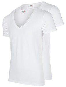 Cavallaro Napoli T-Shirt V-Neck 2Pack White