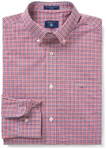 Gant The Broadcloth 3 Color Gingham Winter Wine