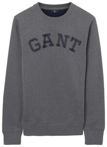 Gant C-Neck Sweat Logo Dark Grey Melange