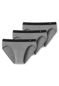 Schiesser 95/5 Rio-Slip 3Pack Underwear Grey