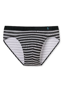 Schiesser 95/5 Rio-Slip Underwear Black Melange Dark