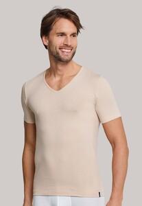 Schiesser 95/5 Shirt Korte Mouw V-Neck Ondermode Skin