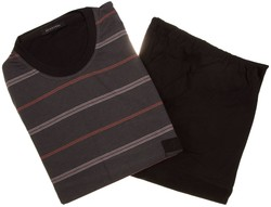 Schiesser Dark Stripes Nachtmode Multicolor