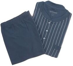 Schiesser Double Stripe Nachtmode Midden Blauw
