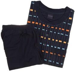 Schiesser Fancy Stripe Nightwear Navy