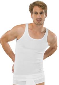 Schiesser Feinripp Singlet Ondermode Wit