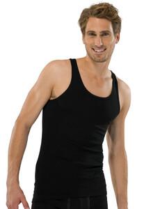 Schiesser Feinripp Singlet Underwear Black