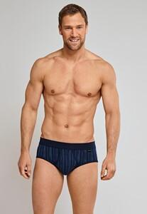 Schiesser Feinripp Sports Brief Gestreept Underwear Navy