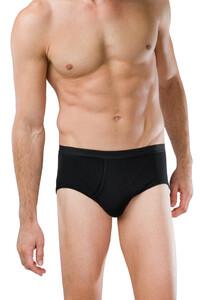 Schiesser Feinripp Sports Brief Underwear Black
