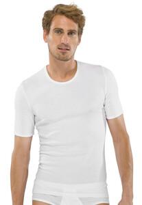Schiesser Feinripp T-Shirt Ondermode Wit