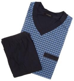 Schiesser Fine Check Nightwear Blue