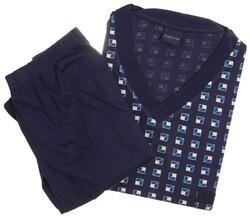 Schiesser Geometric Pattern Nachtmode Blauw