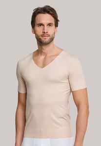 Schiesser Laser Cut Korte Mouw V-Neck Underwear Skin