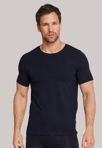 Schiesser Long Life Soft Shirt Ronde Hals Underwear Dark Navy