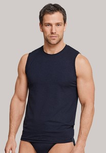 Schiesser Long Life Soft Tank Top Underwear Dark Navy