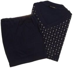 Schiesser Mini Paisley Pattern Nightwear Navy