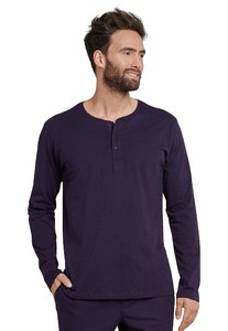 Schiesser Mix & Relax Cotton T-Shirt Knoopjes T-Shirt Plum