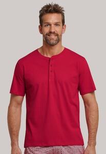 Schiesser Mix & Relax Cotton T-Shirt Knoopjes T-Shirt Red