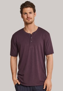 Schiesser Mix & Relax Modal T-Shirt Knoopjes T-Shirt Maroon