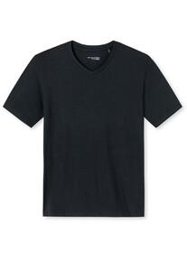 Schiesser Mix & Relax Modal T-Shirt V-Hals T-Shirt Zwart