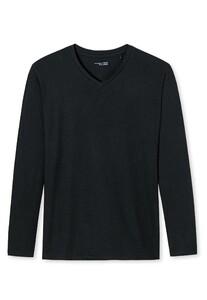 Schiesser Mix & Relax Modal T-Shirt V-Neck T-Shirt Zwart