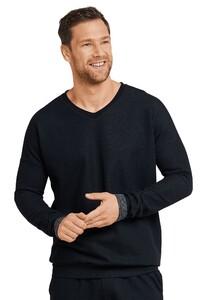 Schiesser Mix & Relax Shirt Lounge T-Shirt Zwart